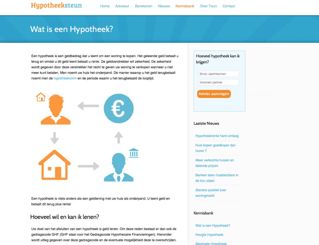 Hypotheeksteun Ontwerp